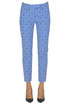 Perfect jacquard cloth trousers Dondup