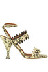 Reptile print leather sandals L'Autre Chose