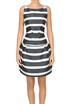 Striped stuctured dress N.21