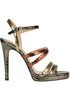 Metallic effect reptile print leather sandals  Giampaolo Viozzi