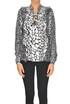 Animal print silk blouse Michael Michael Kors