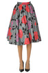 Flower print full skirt MSGM