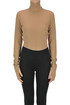 Ribbed lyocell turtleneck body MM6 by Maison Martin Margiela