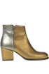 Metallic effect leather ankle-boots Rose's Roses