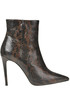 Reptile print effect leather boots Giampaolo Viozzi