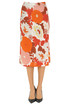 Flower print jersey midi skirt Dodo Bar Or