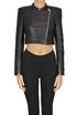 Cropped eco-leather jacket Patrizia Pepe