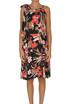 Flower print silk dress 1 One