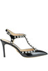 Studded leather pumps Luciano Padovan
