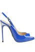 Patent leather sling-back pumps Luciano Padovan