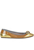 Embellished patent-leather ballerinas Dove nuotano gli squali