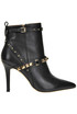Studded leather ankle-boots Liu Jo