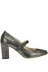 Metallic effect suede Mary Jane pumps Yosh Collection