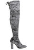 Velvet over the knee boots Unisa