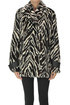 Animal print eco-fur caban Pinko