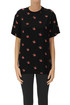 Swallows print viscose t-shirt MCQ Alexander McQueen