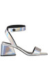 'Kyla' metallic effect leather sandals Kendall+Kylie