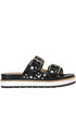 Studded leather slides Janet Sport