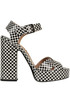 Checked print leather sandals Laurence Decade