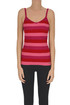 Striped ribbed lurex knit tank-top Nenette