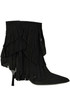 Elle fringed suede ankle boots Ncub