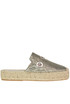 Metallic effect fabric espadrillas Premiata