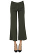 Cropped cotton and linen trousers Keyfit