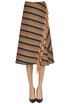 Striped wraparound skirt Golden Goose Deluxe Brand