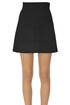 Flared wool-blend mini skirt N.21