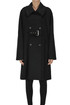 Double-breasted wool coat Alberta Ferretti