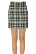 Embellished checked print mini skirt Veronica Beard