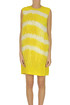 Crepè dress with feathers MSGM