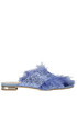 Embellished glittered slides Gianna Meliani