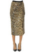 Sequined animal print skirt ITMFL