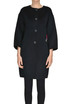 Embroidered angora wool-blend coat Ermanno Scervino