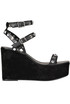 Studdded leather wedge sandals Ash