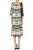 Striped satin dress Dries Van Noten