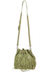 Fringed leather bucket bag Patrizia Pepe