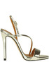 Metallic effect leather sandals Marc Ellis