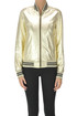 Metallic effect leather bomber jacket Dondup