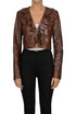 Cropped leather jacket Pinko