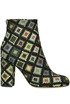 Jacquard cloth ankle-boots Space Style Concept