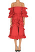 Taffeta ruffled dress Alexa Chung