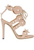 Suede sandals with pearls Marc Ellis