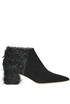 Lurex fringes suede ankle boots Gianna Meliani