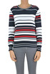 Striped cotton pullover CO/TE