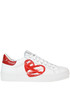 Martini Heart print leather sneakers Nira Rubens