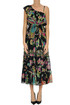 Printed one shoulder dress RED Valentino