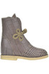 Crocodile print leather boots Passion Blanche