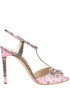 Reptile print leather sandals Casadei